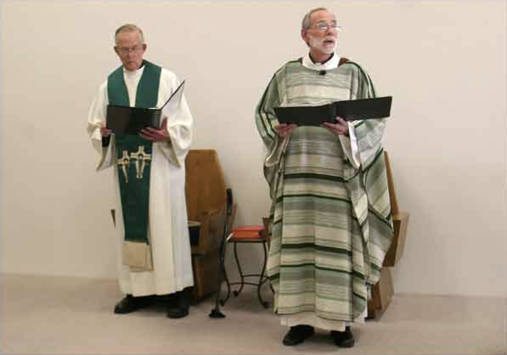 First Mass in New Building